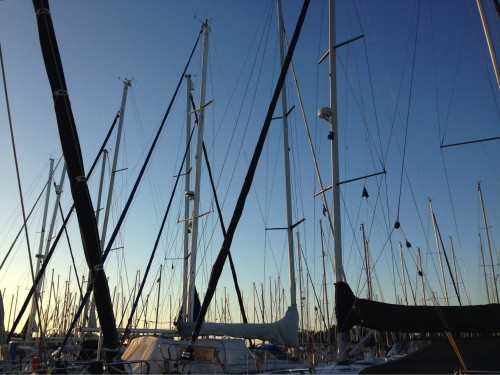 Enkhuizen Hafen Sundown