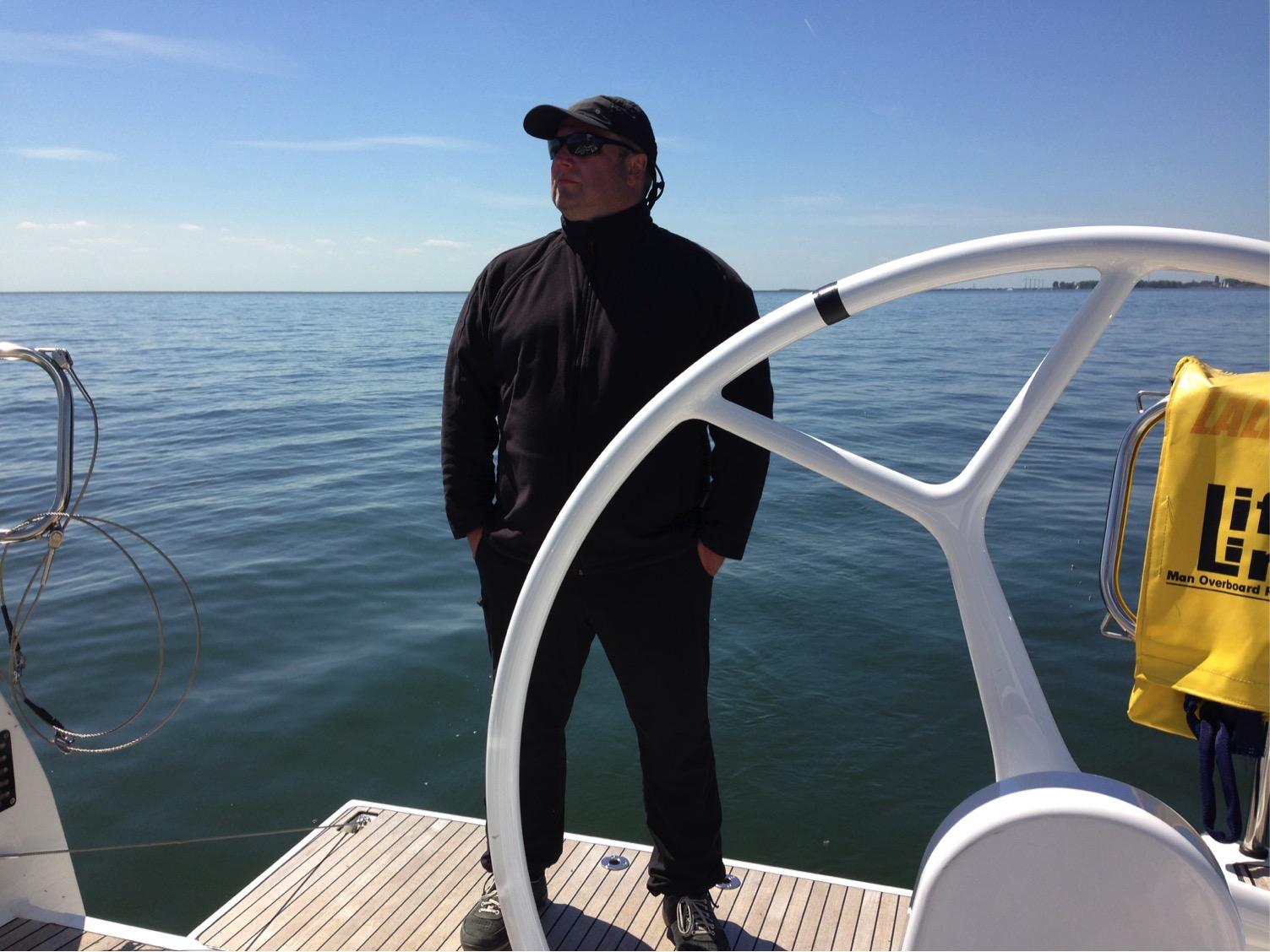Skipper ruhiges Ijsselmeer